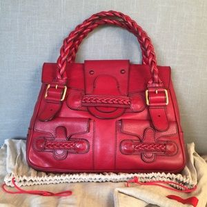 NEW! Authentic Valentino Leather Histoire Satchel